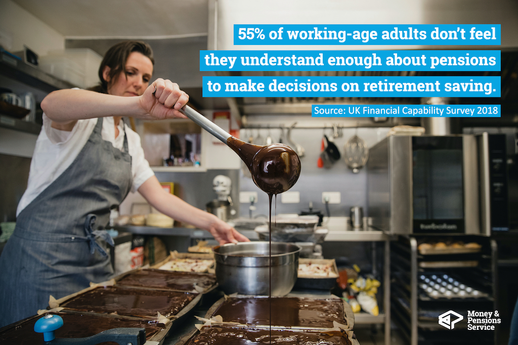 55% of working-age adults do not feel that they understand enough about pensions to make decisions about saving for retirement.